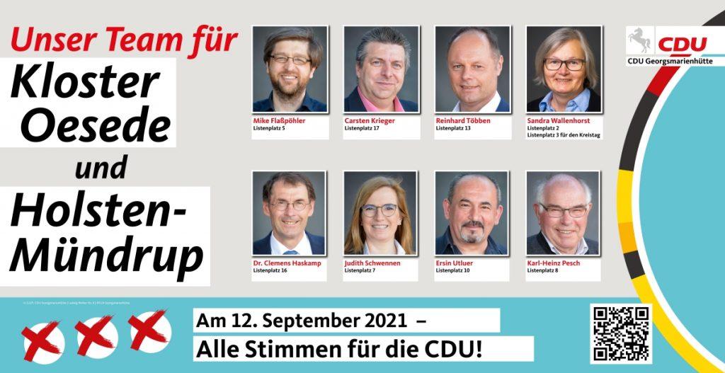 Mike Flaßpöhler - Carsten Krieger - Reinhard Többen - Sandra Wallenhorst - Dr. Clemens Haskamp - Judith Schwennen - Ersin Utluer - Karl-Heinz Pesch