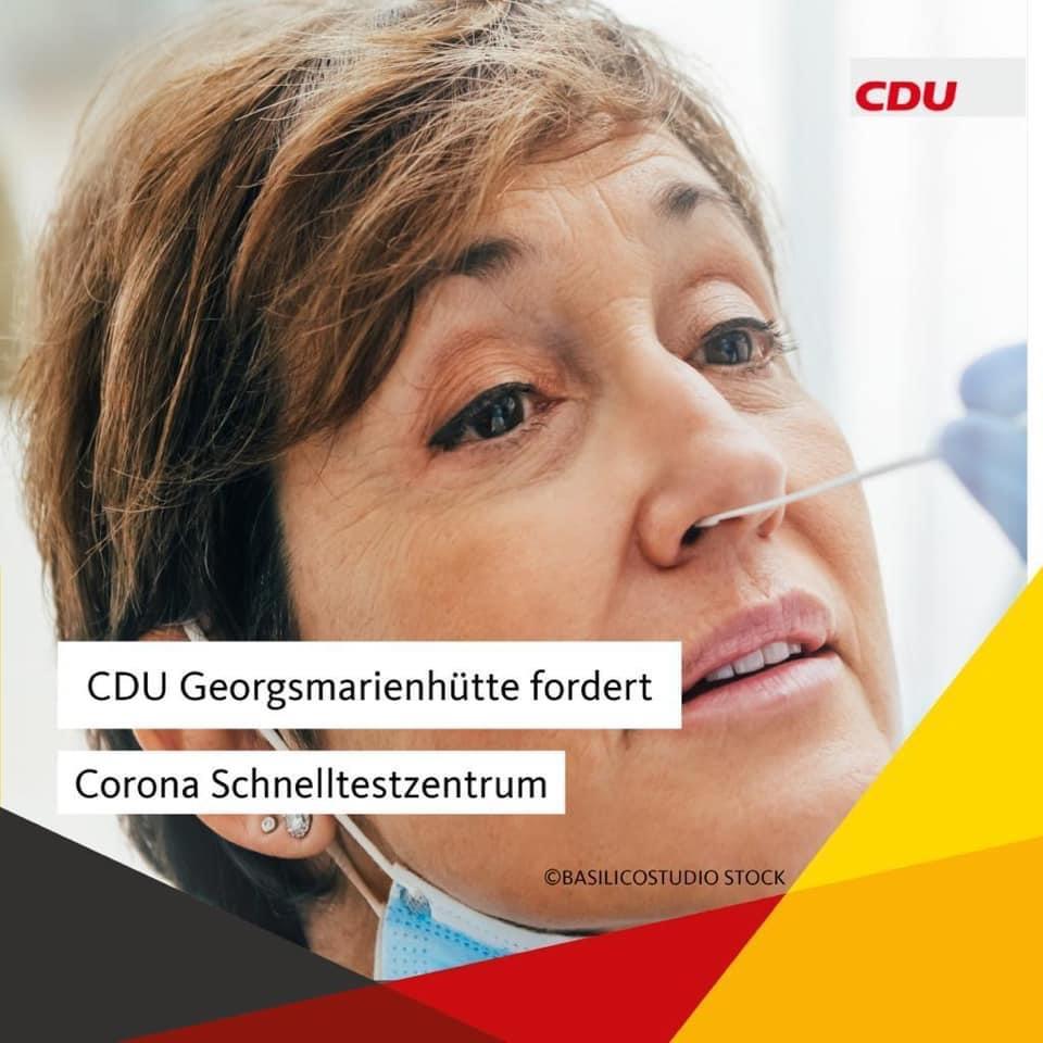 CDU Georgsmarienhütte fordert Corona-Schnelltestzentrum