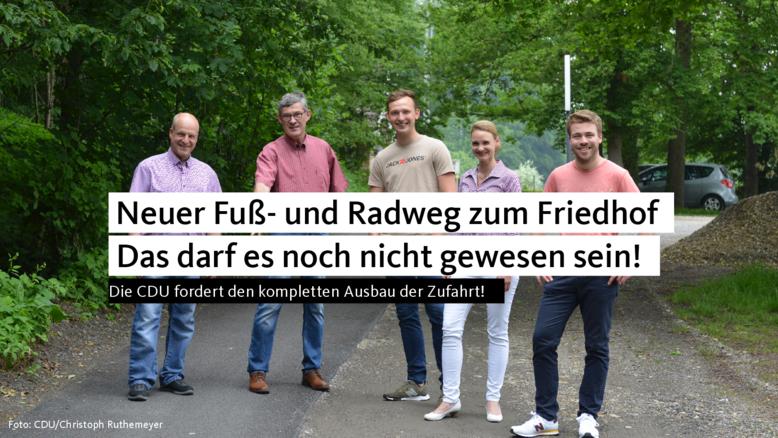 Neuer Fuß- und Radweg zum Holzhauser Friedhof