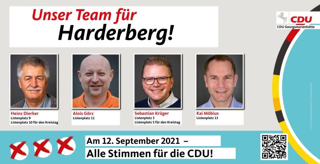Unser Team für Harderberg