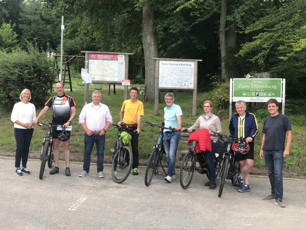 Waldbesitzer und Mountainbiker treffen sich am Dörenberg