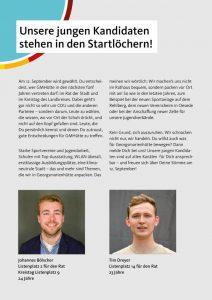 Junge Holzhauser Kandidaten stehen in den Startlöchern